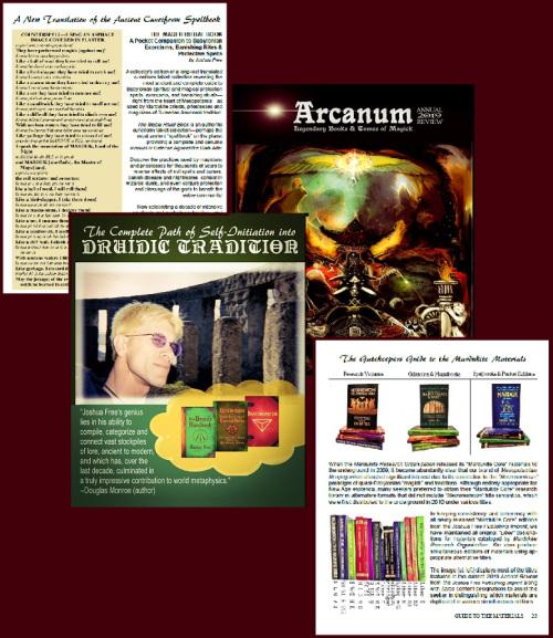 Arcanum Annual 2019 Review Guide to Mardukite Materials Joshua Free Publishing Imprint